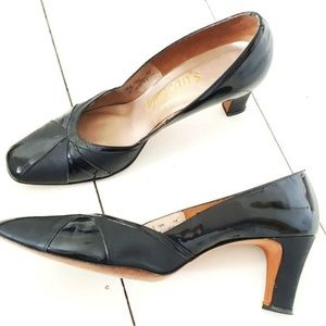 Vintage 50s Patent Leather Heels Size 10.5